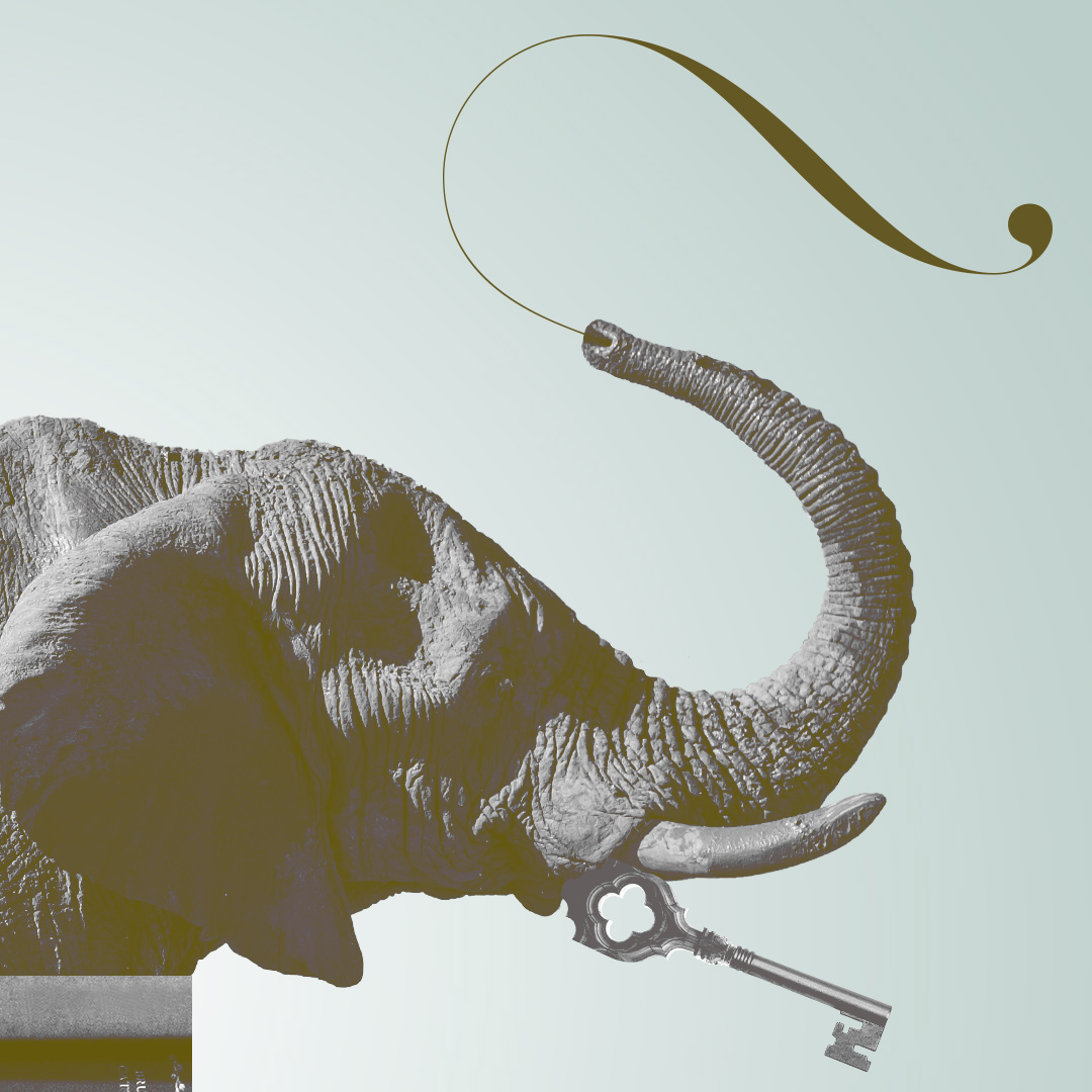 Collage: Key to an elephant´s heart Deatil View