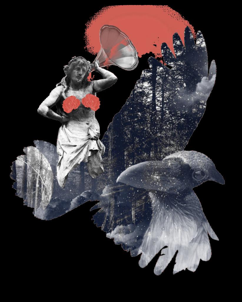 "Collage: ""Raven"""