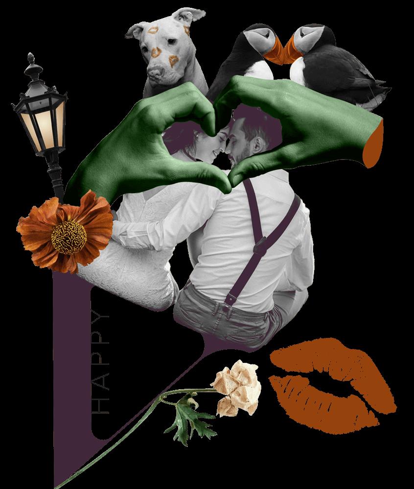 St. Valentine Collage Art